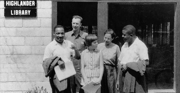 In 1957, Martin Luther King Jr., left, attended a weekend event in honor of the 25th anniversary of Highlander Folk School. Also attending were representatives of the Federal Bureau of Investigation, looking for proof that King and Highlander were breaking the law.