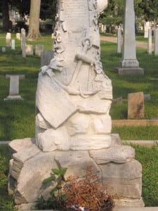William Driver's grave in Nashville's City Cemetery is one of the few places in the country where the American flag is permitted to fly at night.