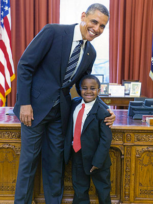 Kid President meets real President Barrack Obama and gets a tour of the Oval Office.