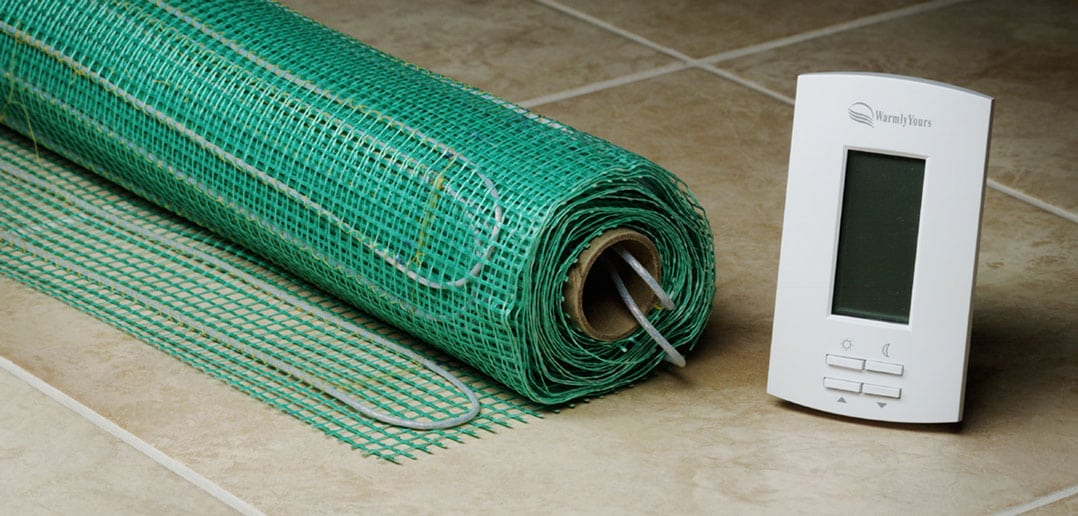 In floor electric heating options the tennessee magazine for Radiant heat flooring options