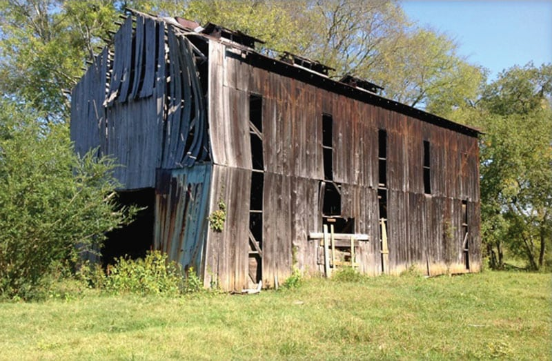 A Barn Near Knoxville Awaits Removal By Eagle Reclaimed Lumber
