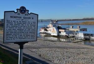 The Memphis Queen at dock near downtown.