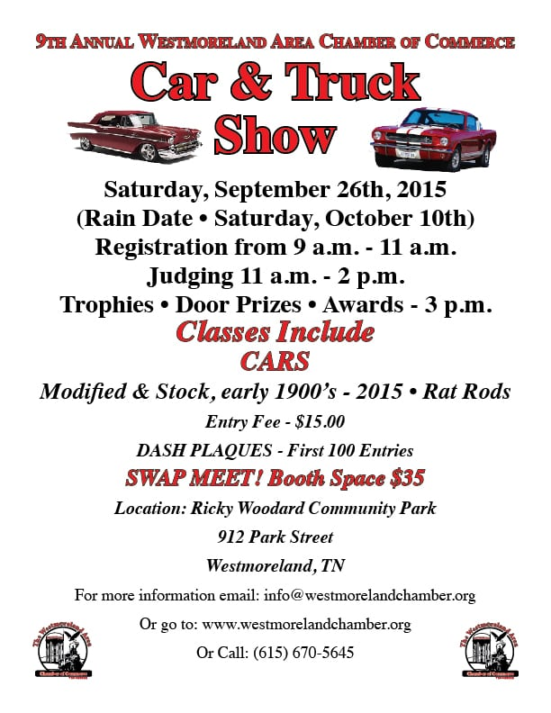 Westmoreland Area Chamber of Commerce Car & Truck Show - The ...
