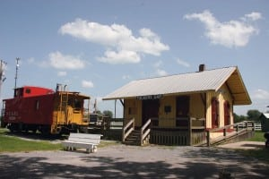 Trains are among the areas of history covered at Fiddlers Grove, where a depot, caboose, museum and more teach visitors about railroads.