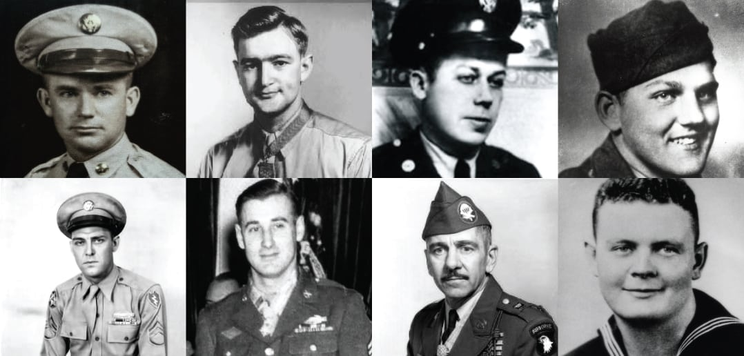Eight Tennessee World War II Medal of Honor recipients had