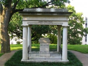 President James K. Polk and his wife, Sarah Childress Polk, are buried near the Tennessee State Capitol.