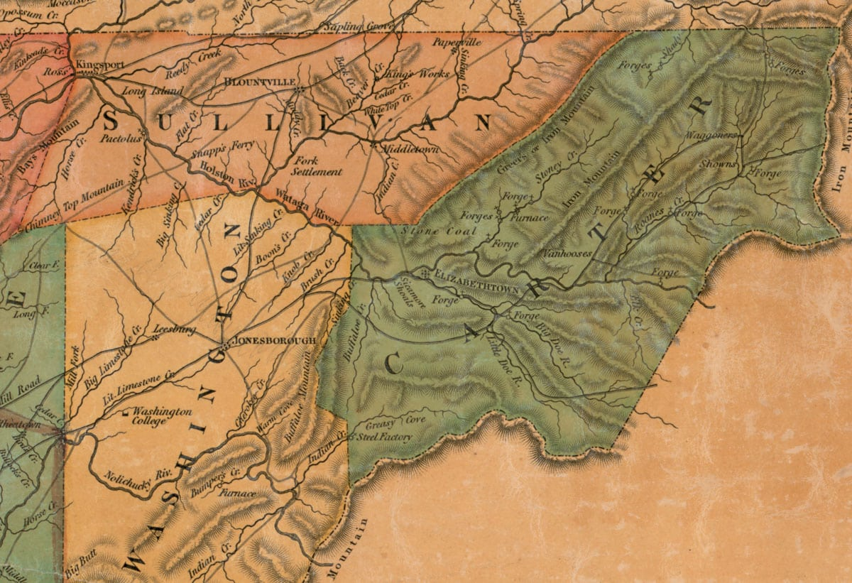 Rhea map full of fascinating information about Tennessee The