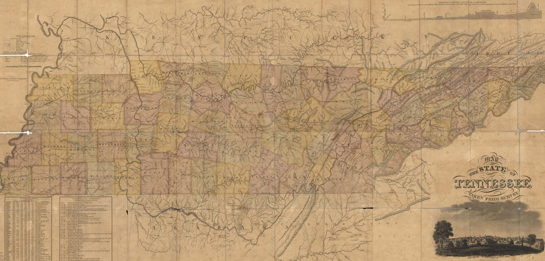 Rhea Map Full Of Fascinating Information About Tennessee The - Map of tennessee