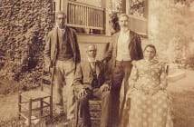 This photo, taken at Wessyngton in 1891, inspired John Baker to learn more about his family. The two people seated are his great-great-grandparents (Tennessee State Library and Archives photo)