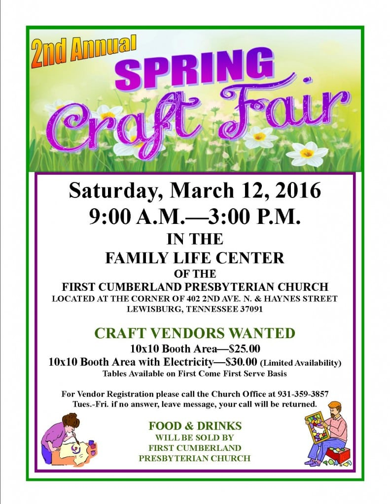 Spring Tennessee Craft Fair
