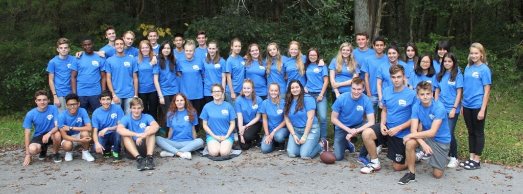 Students hosted in 2015-2016 by AFS-USA's MissTennKy Area Team (covering Tennessee, northern Mississippi, southern Kentucky and northern Alabama) gather for a group photo.