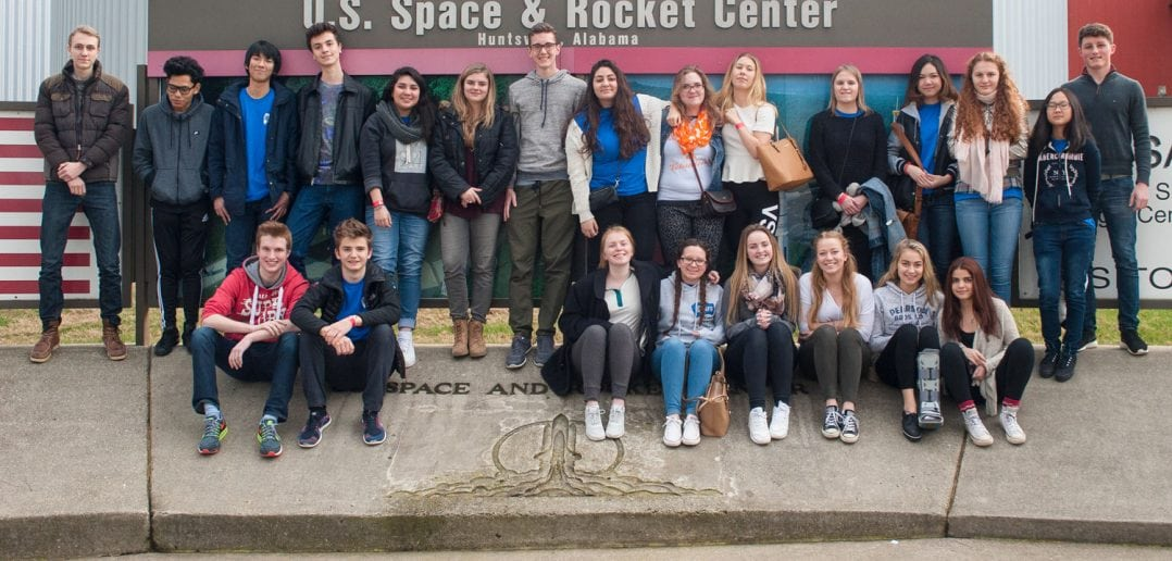 Students from countries across the globe visit the U.S. Space and Rocket Center in Huntsville, Alabama. Photograph courtesy of AFS-USA volunteer Martin B. Cherry.