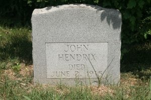 John Hendrix's grave in Oak Ridge (Photo courtesy of Ray Smith).