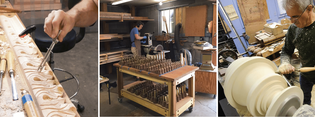Each piece of the organ is carefully calibrated, not just for cosmetics and design, but for sound quality, pitch and tone.