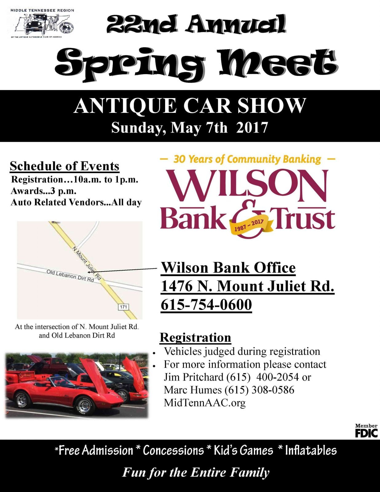 Wilson Bank and Trust Mount Juliet Car Show - The Tennessee Magazine