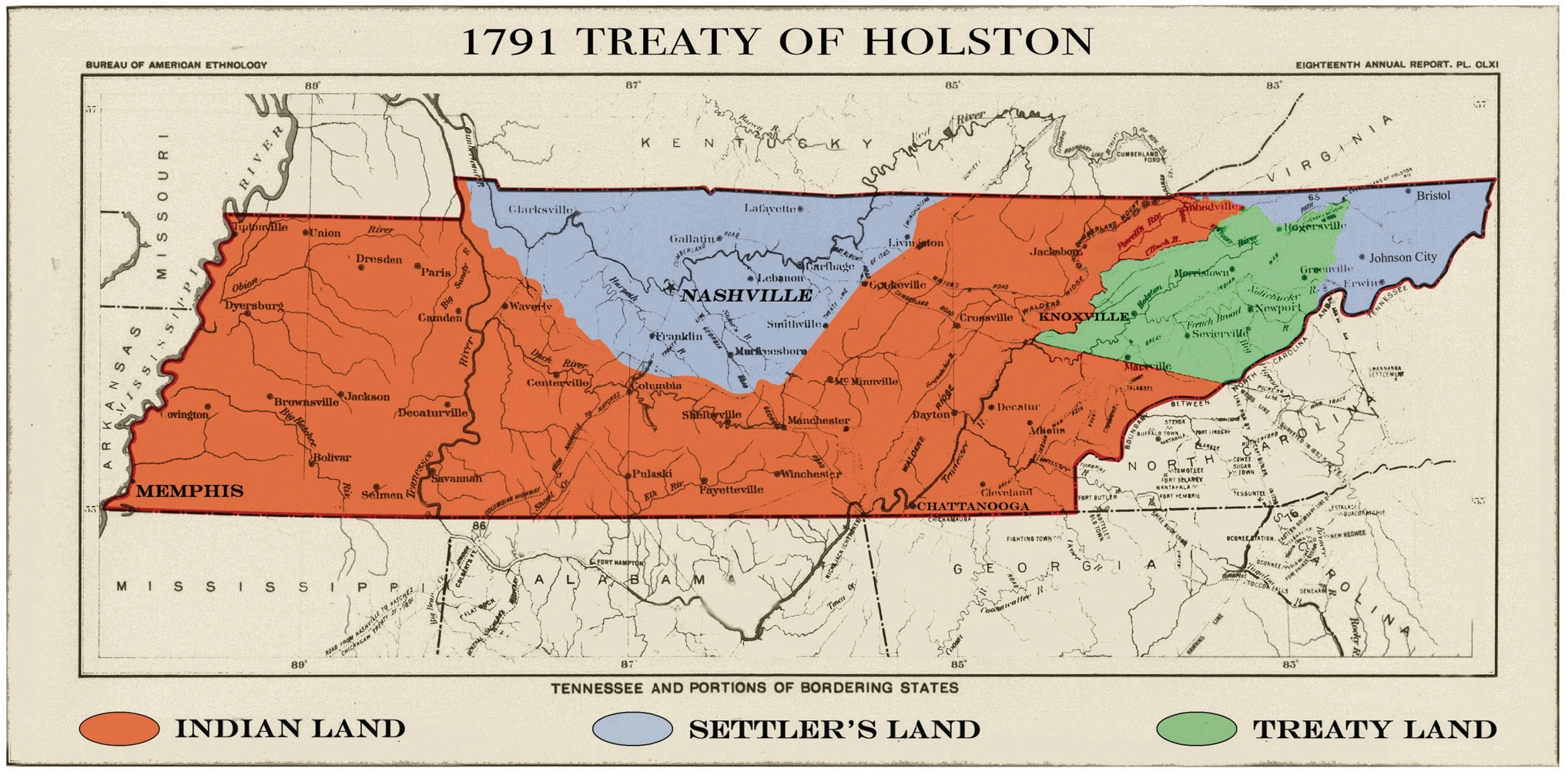 Indian Tribes Tennessee Map Tennessee Was the Wild Frontier When It Became a State | The